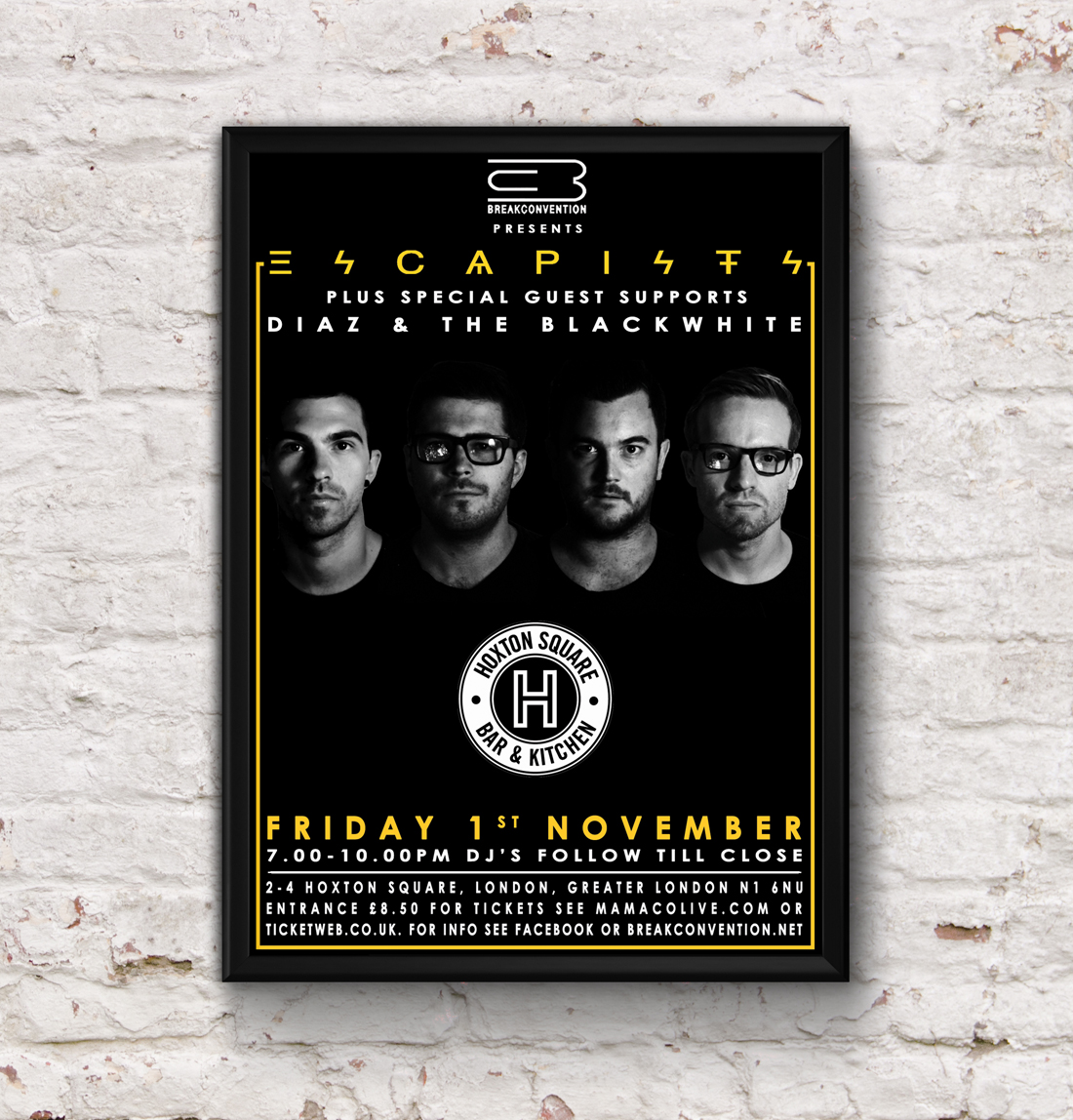 Escapists - Hoxton Square Bar & Kitchen 01.11.13