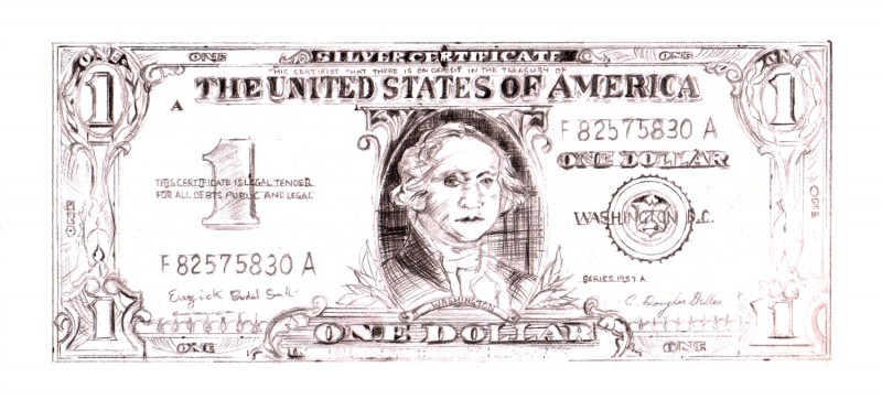 DETAILED STUDY - WARHOL DOLLAR BILL