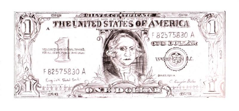 DETAILED STUDY - WARHOL DOLLAR BILL