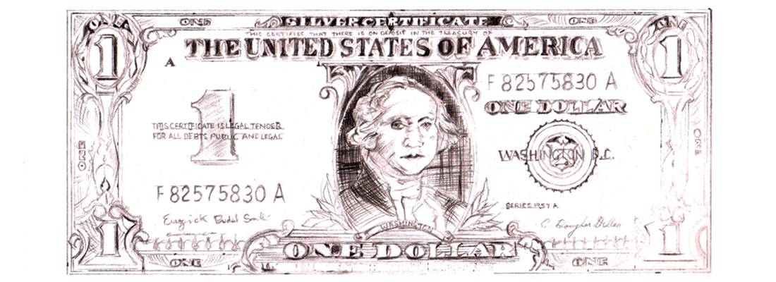 Warhol Dollar Bill - home page