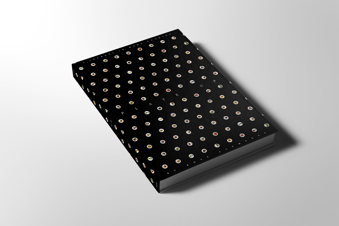 Plate up book Cover Mock up