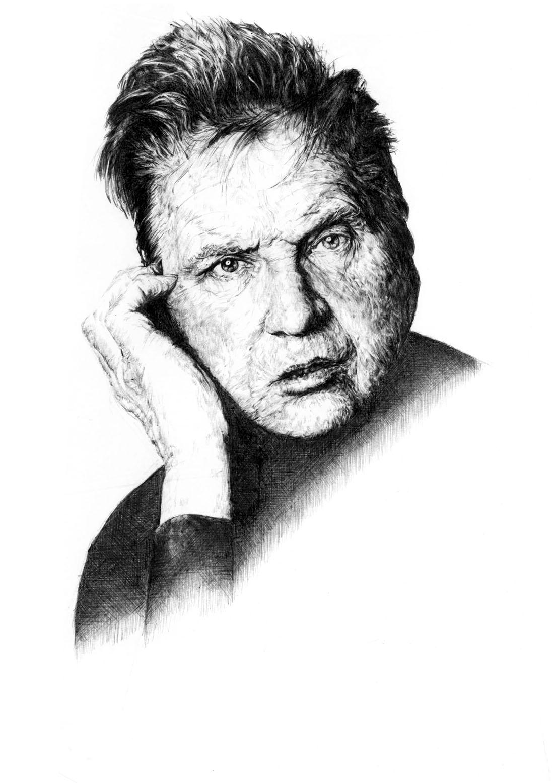 Francis Bacon, pen & ink study