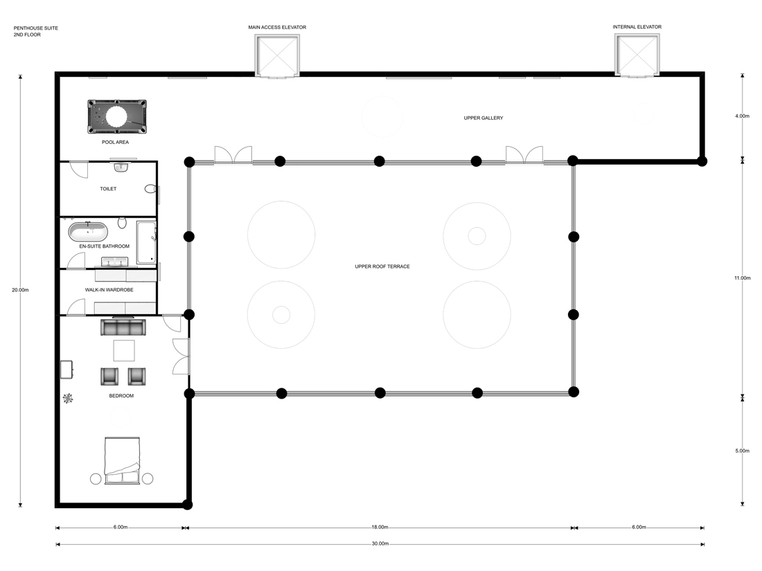 2nd Floor Plan Drawing